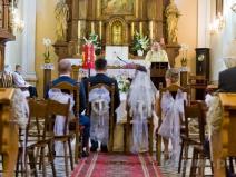 Ślub w kościele w Czersku